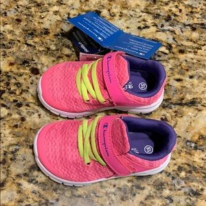 Size 5.5 toddler pink girls athletic shoes, NWT